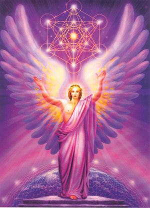archangel metatron color light, cube and sacred gemoetry