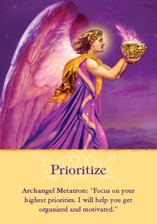 archangel metatron prioritize archangel oracle card