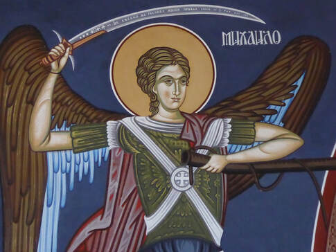 archangel michael and his sword